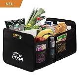 FORCAR Hochwertige Kofferraumtasche mit stabilen Böden, verstärkten Griffen und Klett. Klappbox Kofferraumbox Faltbox Organizer Autobox Tasche Einkaufskorb