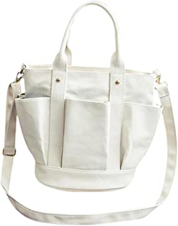 TIFIY Damen Retro Laternen Art Tote Bag Reine Farbe Satchel Freizeit Segeltuch Tasche Handtasche Außenhandelstasche