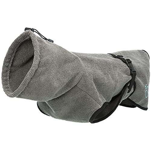 TRIXIE Hunde-Bademantel - XL - 70 cm, XL - Rückenlänge 75 cm