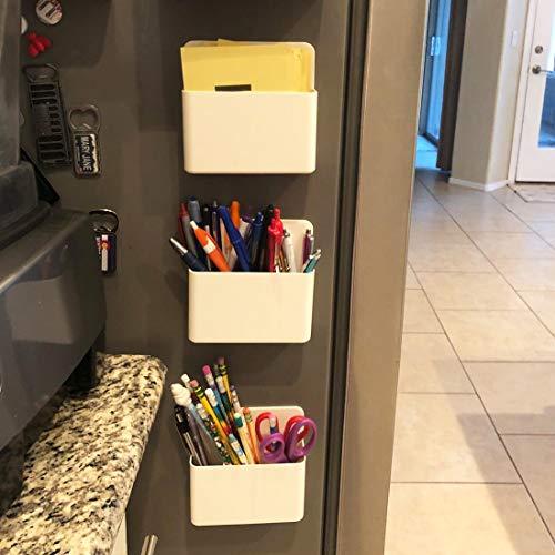 1 Pack Magnetic Dry Erase Marker Holder, Whiteboard Marker Holder, Mighty-magnetic Marker Pen Organizer for Whiteboards (White) Photo #7
