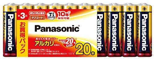 パナソニック アルカリ乾電池 単3形20本パック LR6XJ/20SW