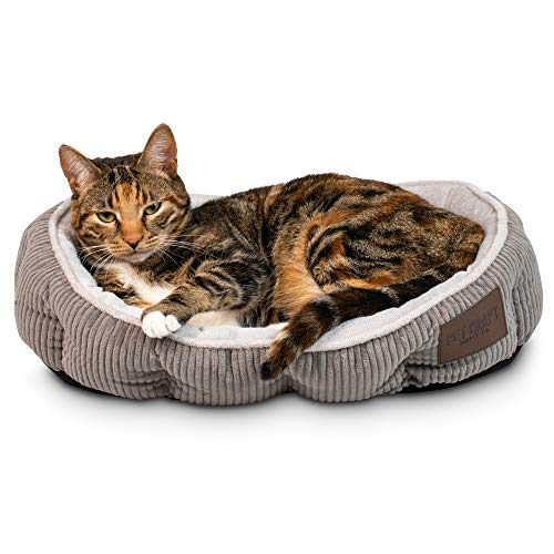 Pet Craft Supply Simple Sleeper Self Warming Cute Calming Cat Bed with...