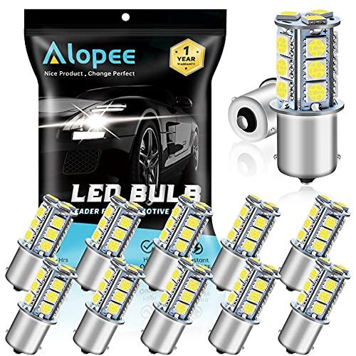 Paquet de 12 1156 BA15S 1156 NA 7506 1141 1003 1073 LED Lumière Blanc 12V-DC, 5050 18 SMD Remplacement de la Voiture pour Intérieur RV Camper Feux de Clignotant, Feu de Freinage