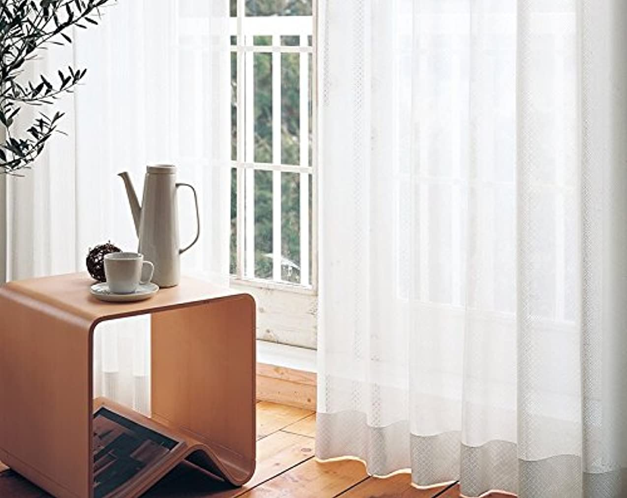 楽観的木製生産的東リ 可愛らしいバイアス柄 カーテン2倍ヒダ KSA60489 幅:200cm ×丈:240cm (2枚組)オーダーカーテン
