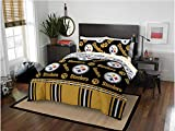 Pittsburgh Steelers NFL Full Comforter & Sheet Set (5 Piece Bed in A Bag)