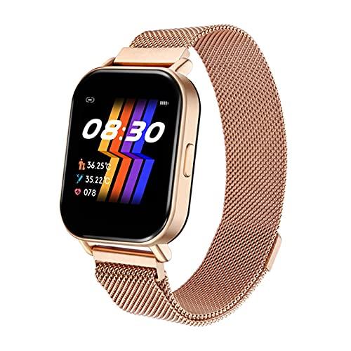 Reloj inteligente para hombres y mujeres, resistente al agua, R66, control de temperatura, rastreador de actividad física táctil, monitor de frecuencia cardíaca, reloj inteligente deportivo de salud