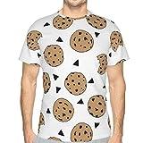 Camisetas, Camiseta de Encargo de la impresión Digital 3D de la Manga Corta Unisex - microprocesador de Chocolate S de la Comida de Las Galletas