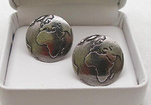 Boutons de Manchette la Planète Terre (avec Boîte à Cadeau)