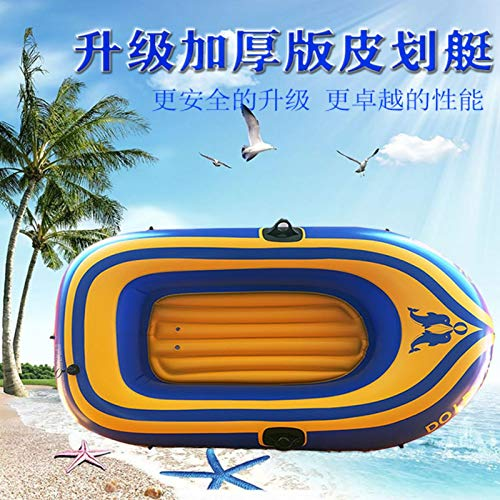 Inflatable Kayak Boats for Adults and Kids with Oar and Air Pump, Fishing Touring Whitewater Kayaks, Rafting Rubber Boat PVC Thickened Double Boat