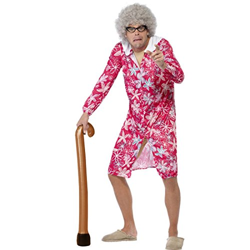 Amakando Stampella da gonfiare Bastone Gonfiabile Ausilio per Camminare Anziano Festa a Tema vecchietti Sostegno per Camminare Accessorio Costume Gadget Travestimento da Nonno