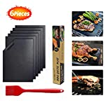 SCOBUTY Grill Mat Set,Non-Stick BBQ Grill Mats,Grill Mat,Works on Electric Grill Gas Charcoal BBQ, Best for Outdoor…