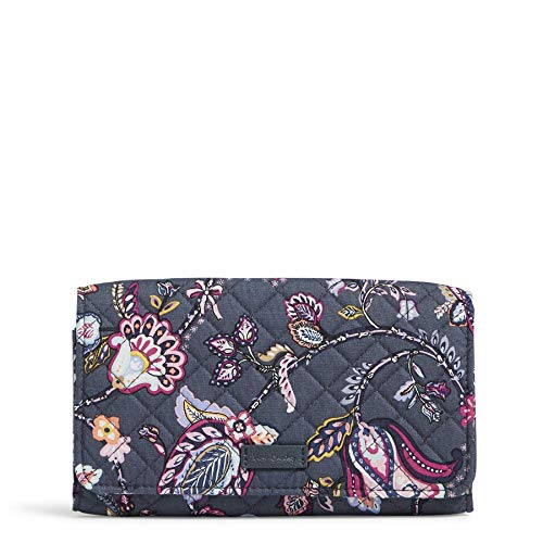 Vera Bradley Cotton Trifold Clutch Wallet with RFID Protection, Felicity Paisley