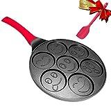 Smile Pancake Pan - Pancake Griddle Shapes - Nonstick Smiley Face Pancake Pan Nonstick 7 Mold Smiley...