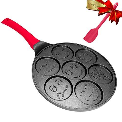 Emoji Pancake Pan - Pancake Griddle Shapes - Nonstick Smiley Face Pancake Pan Nonstick 7 Mold Emoji Smiley Pancake,DAYOOH