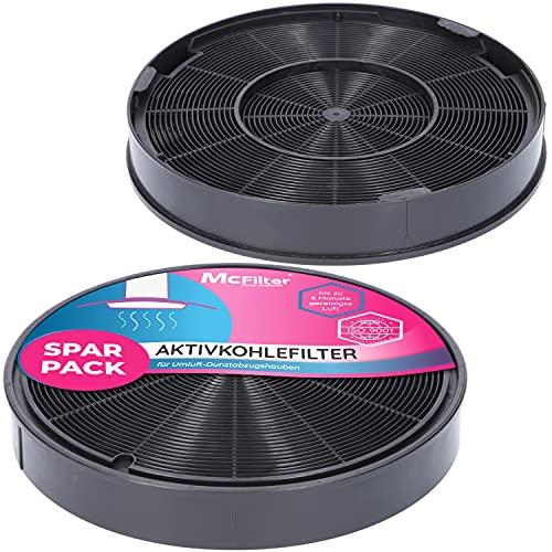 2x Filtro ai carboni attivi Ø 200 mm, EFF62, set di 2 pezzi per cappa aspiranti adatto per filtro a carbone Franke 112.0016.755, AEG 9029793578, Bosch/Siemens 00748732, Miele 6532971