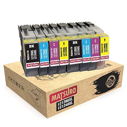 Matsuro Original   Kompatibel Tintenpatronen Ersatz für Brother LC1280XL LC1240XL LC1280 LC1240 (2 Sets)