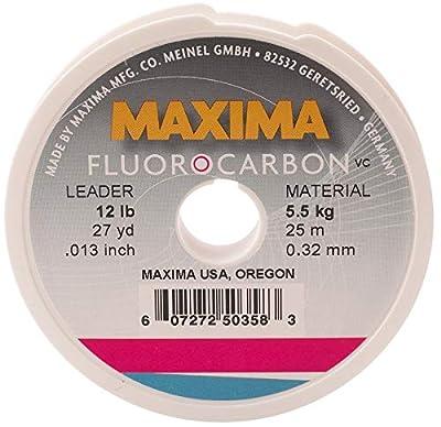 Maxima Fishing Line Leader Wheel, Fluorocarbon, 12-Pound, 27-Yard