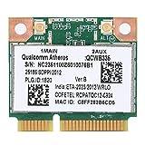 ASHATA Tarjeta de Red, Qualcomm Atheros AR9565 QCWB335 150M Mini PCI-E Tarjeta de Red inalámbrica Bluetooth Universal, Tarjeta de Red Bluetooth 2.4G para HP/DELL/Acer, etc.