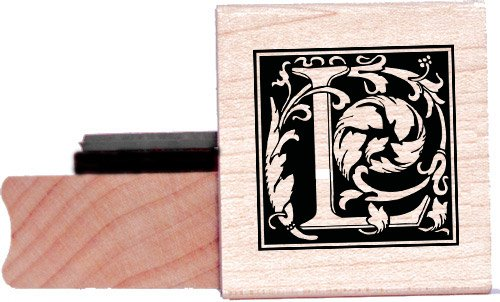 Tampon en caoutchouc alphabet - Lettre L à la William Morris