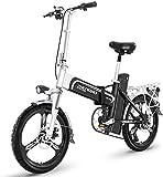Bicicleta eléctrica de nieve, De 20 pulgadas bicicleta eléctrica, 48V400W de motor sin escobillas, 21/30 / 35AH litio opciones de batería, batería Vida 110-200KM necesidades de viaje, Reunión, 30AH Ba