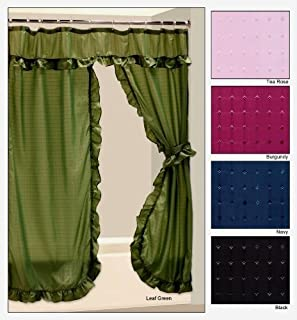 Tiara Double Swag Shower Curtain - Tea Rose
