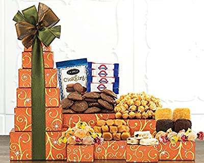 Gift Tower Of Sweets. Token of Appreciation Gift Tower. Perfect For Family Gift, Business Gift, Celebration Gift. A Birthday Gift Tower Favorite. Spectacular Thank You Gift Tower.