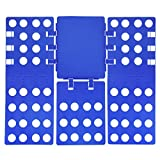 Lamoutor Adult Clothes Folding Board Adjustable Shirt Folding Board Fast Speed Folding Clothes Blue (X Large)