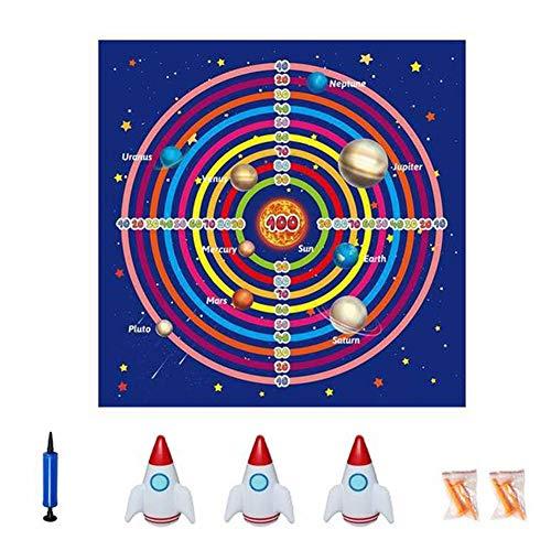 Juego de juego de tablero de dardos para niños, saco de arena inflable en el interior Juego de lanzamiento al aire libre, manta de dardos para césped de césped para niños al aire libre para niños
