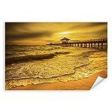 Postereck - 0470 - Holzsteg Meer, Sonnenuntergang - Poster 30.0 cm x 20.0 cm