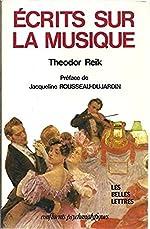Écrits sur la musique de Theodor Reik