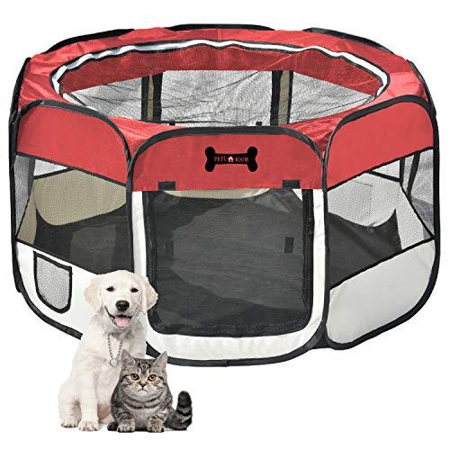 Mcdear Plegable Parque Mascota de Juego Fabric Pet Pen para Perros Gat