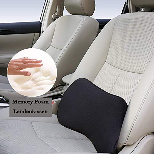 Big Ant Lendenkissen, orthopädische Lordosenstütze Auto, Memory Foam Stützkissen, ideal für Autos, Bürostühle und Rollstühle (schwarz)