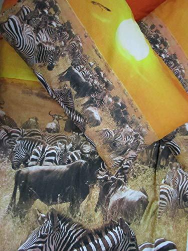 PAGO POCO Bettwäsche-Set mit Fotodruck Safari-Design 100% Baumwolle Einzelbett Doppelbett Neuheit 2020!!! ! Einzelbett Singolo