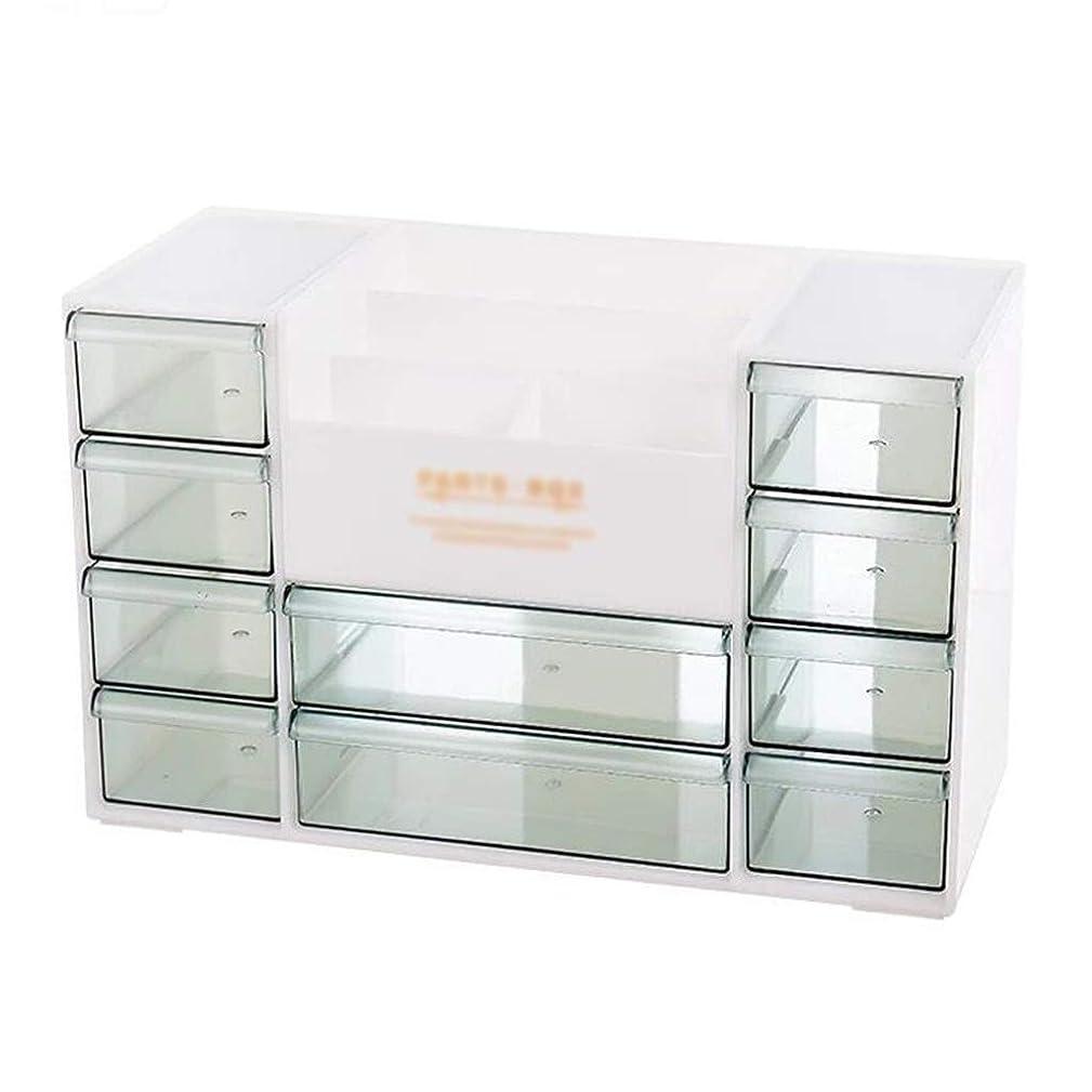 連帯ベーコントン化粧品収納ボックス本デスクトップ収納オフィス引き出し選別ボックスシンプル家庭用プラスチックボックスラック (Color : BEIGE, Size : 30.5*13*19.5CM)