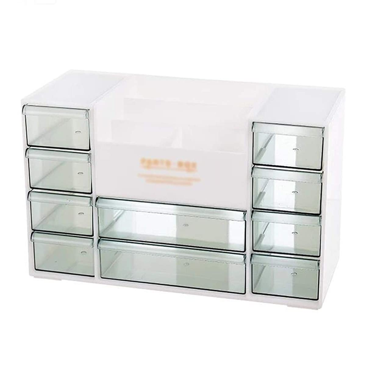 ステートメントマークパドル化粧品収納ボックス本デスクトップ収納オフィス引き出し選別ボックスシンプル家庭用プラスチックボックスラック (Color : BEIGE, Size : 30.5*13*19.5CM)