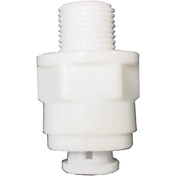 Push-fit Reducing Tee Push-to-Connect 3//8-Inch by 3//8-Inch by 1//4-Inch OD for RO Water Reverse Osmosis 5 Pack