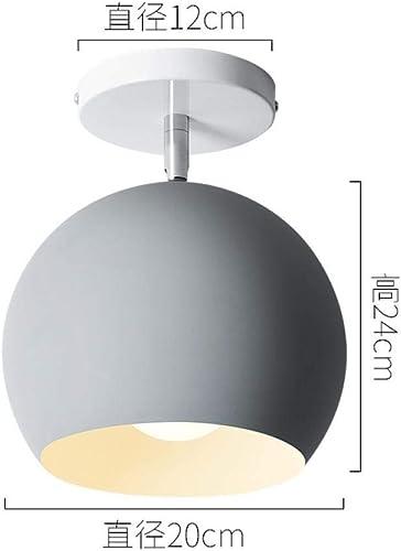 Allée de plafond Plafonnier de l'allée nordique Lampe de chambre à coucher de personnalité créative simple lot de balcon d'étude post-moderne @ 20cm de diamètre_Sans source de lumière