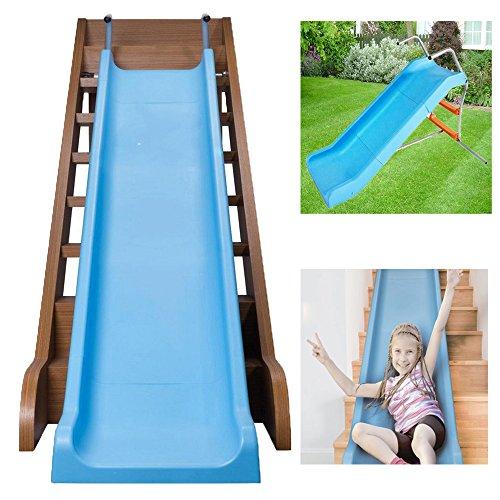 The Magic Toy Shop Kids Slide 2 in 1 Indoor & Outdoor All Weather Garden Toddler Freestanding or Stair Slide
