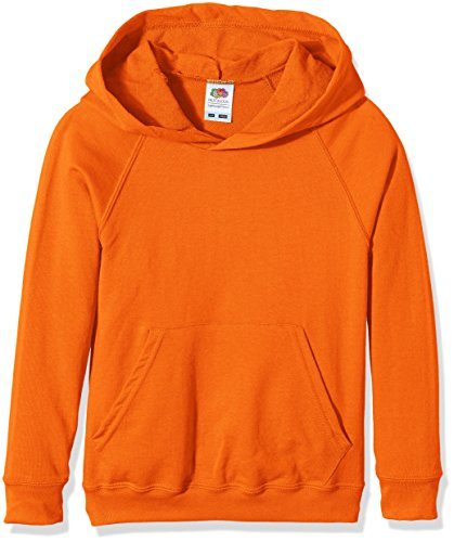 Fruit of the Loom SS056B - Capucha Niñas, Naranja (Orange - Orange), Small