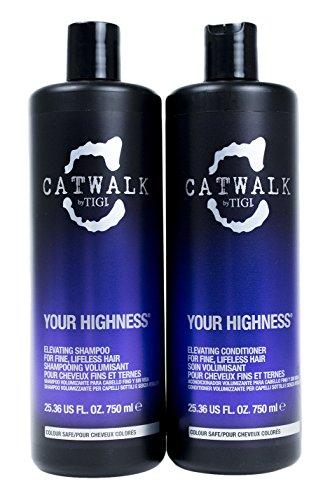 TIGI Catwalk Shampoo and Conditioner, Your Highness, 25.36 Fluid Ounce