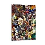 NUOMANAN Exquisito mural de pintura al óleo My Hero Academia-Focus Art Edición limitada, 40 x 60 cm, decoración de pared para sala de estar, decoración del hogar sin marco/enmarcar