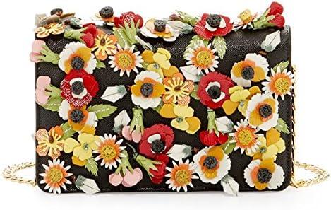 Prada Saffiano Garden Floral Applique Misto Designer Crossbody Bag for Women 1BP006 product image