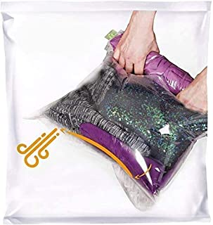 The Chestnut - 8 Travel Space Saver Bags - No Vacuum or Pump Needed - Storage for Clothes - Reusable Packing Sacks - Trave...
