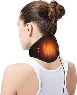 Almohadilla Calefactora de Cuello, Cuello Calentado Eléctrico con Cable USB de 1,5 m para Alivio del Dolor de Cuello, Alivio de la Rigidez o Postoperatorio