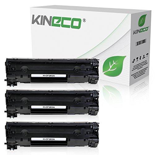 3 Kineco Toner kompatibel zu HP CF283A 83A Laserjet Pro M125nw, M125rnw, Laserjet Pro M127fw, Laserjet Pro M127FN, Laserjet 128, 120 Series - Schwarz je 1.500 Seiten