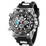 SIBOSUN LED Digital Wrist Watch, Multifunctional Military Watch, Stopwatch Waterproof Big Face Mens Sports Watches