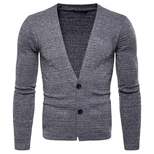 KTZAJO 2021 Pull à capuche en tricot classique tendance confortable pour homme Style streetwear décontracté européen et américain - Gris - XL