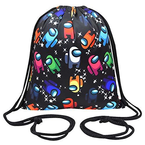 TX Bolsa con cordón, Mochila con cordón, Bolsa de deporte con cordón, para gimnasio, escuela, piscina, playa, camping, viajes