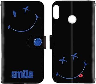 HUAWEI nova lite 3 (POT-LX2J) ケース 手帳型 カードタイプ 【ペケポン:ブルー】 スマイル smile ニコちゃん ノバライトスリー スマホケース 携帯カバー [FFANY] pekepon-190955c
