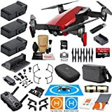 DJI Mavic Air Fly More Combo (Flame Red) With 3 Batteries, 4K Camera Gimbal Bundle Kit with Must Have Accessories